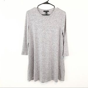 Knit 3/4 sleeved Grey Dress